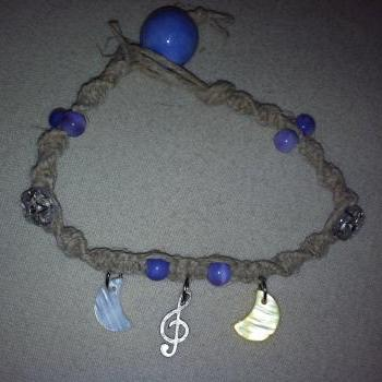 Music of the NIght Hemp Necklace and Bracelet Set